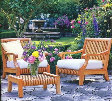 Patio Furniture Ebay Canada by 3 Pc Teak Wood Garden Outdoor Patio Lounge Chair Ottoman