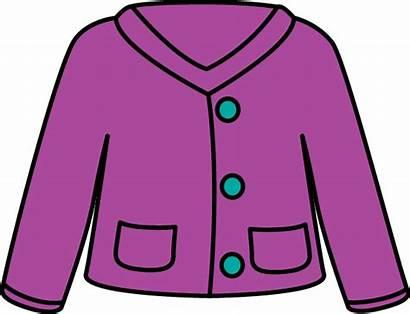 Sweater Clipart Cardigan Clip Cliparts Cartoon Purple