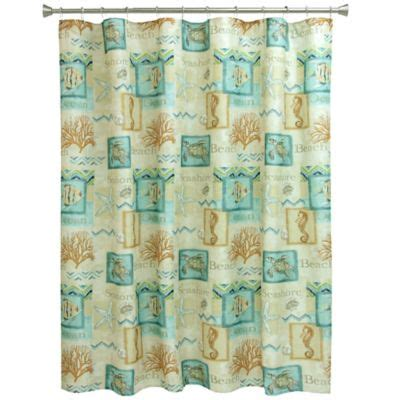 Coastal Shower Curtain by Buy Shower Curtains From Bed Bath Beyond