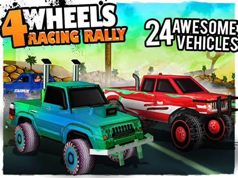 wheels racing rally  monster truck race game review  discussion toucharcade