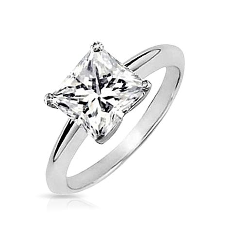 mens engagement ring vintage sterling silver princess cut solitaire engagement ring
