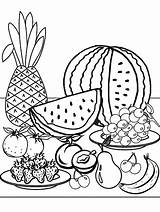 Coloring Fruit Pages Printable Summer Fresh Printables sketch template