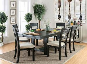 Thomaston 2 Brushed Black  Ivory Side Chairs By Furniture