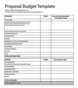budget proposal template doliquid With itemized proposal template