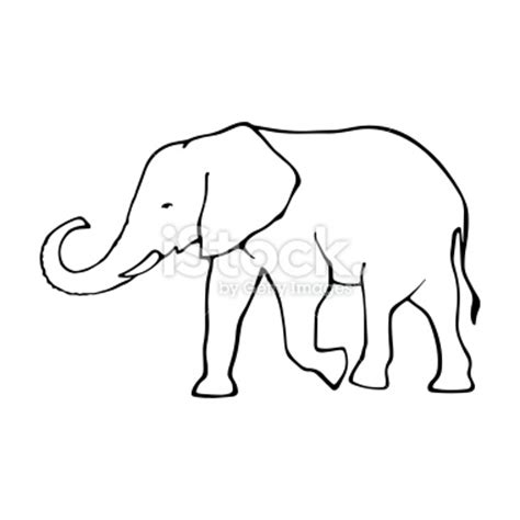 elephant clipart outline trunk up elephant outline images search