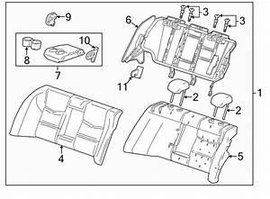 Cadillac Cts Seat Armrest Bracket  Seat Back