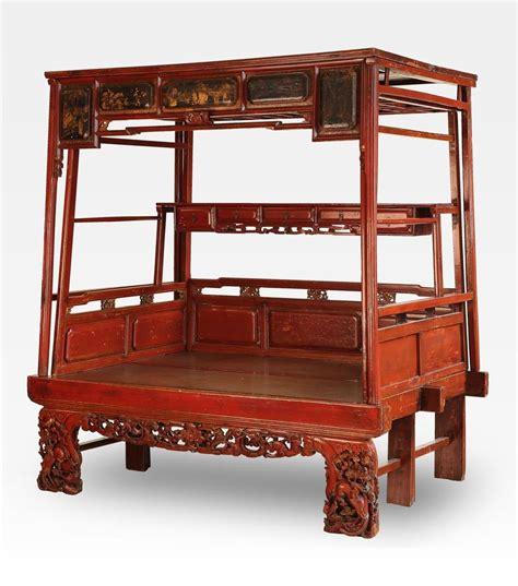 Letto A Baldacchino Antico by Letto Cinese A Baldacchino Rosso Intagliato In Legno Di