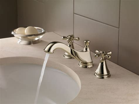 delta cassidy faucet polished nickel faucet h295pn in brilliance polished nickel by delta