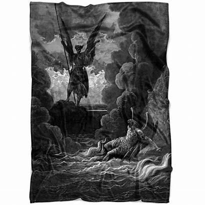 Satan Fallen Paradise Lost Angels Summoning Blanket