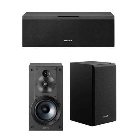 sony bookshelf speakers sony sscs8 center channel speaker w pair of bookshelf