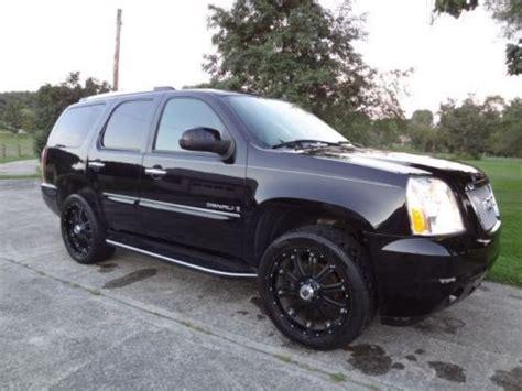 buy used 2007 gmc yukon denali black black leather interior 71 788 28 900 in