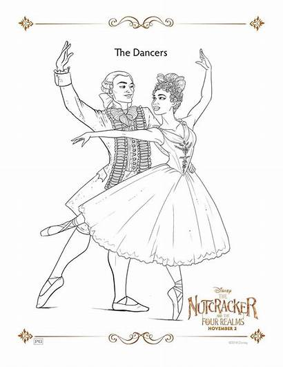 Nutcracker Coloring Realms Four Sheets Printed Each