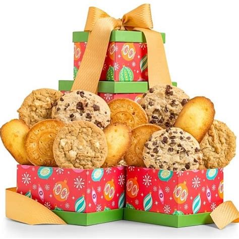 christmas cookies to give as gifts holiday season cookie gift tower christmas gifts arttowngifts com