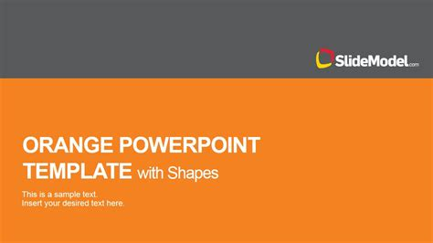 orange powerpoint template  shape icons slidemodel