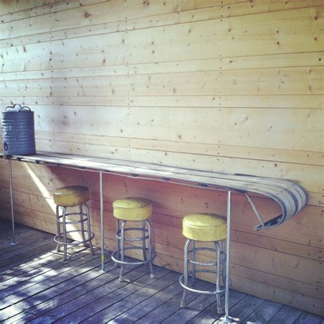 wooden sled deck repurposed 10ft wooden snow sled into deck bar 60 diy