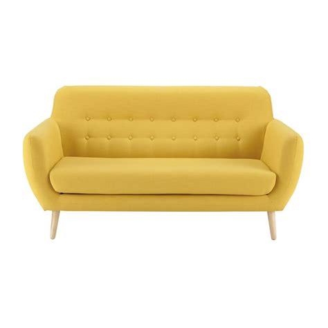 rénovation canapé tissu sofá vintage de 2 3 plazas de tela amarillo iceberg deco