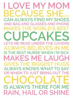 personalized mothers day gift poster