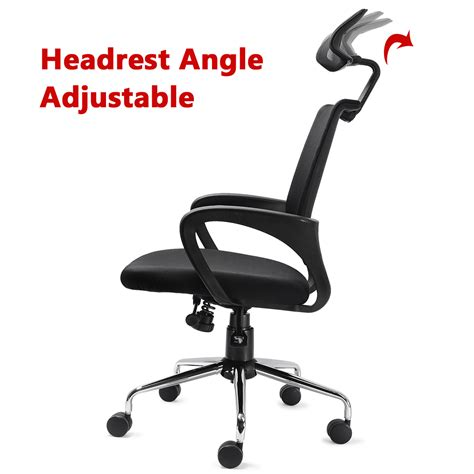 mesh ergonomic office chair with adjustable headrest and