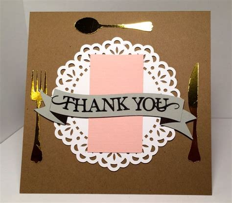thank you for dinner thank you for dinner card everydaypaper silhouette cameo pinterest thank you cards