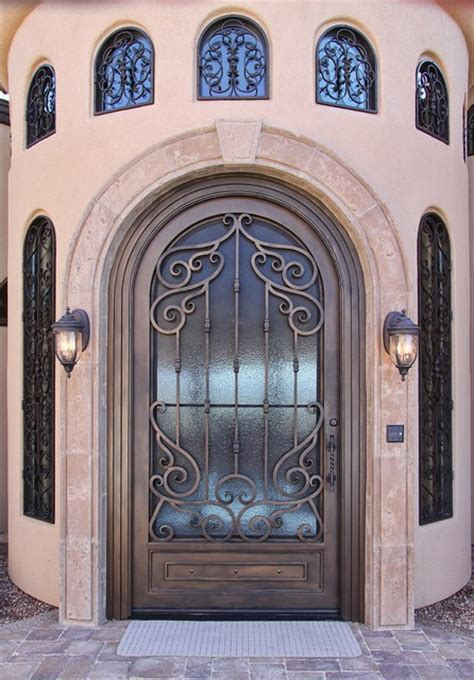 tuscan iron entry door   impression security doors