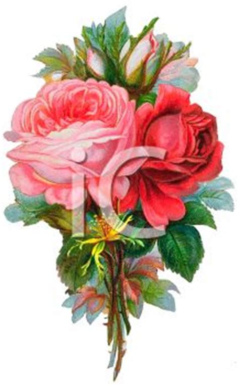 vintage flowers   small bouquet royalty  clipart
