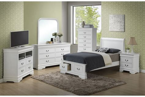 bedroom sets dawson white twin size storage bedroom set