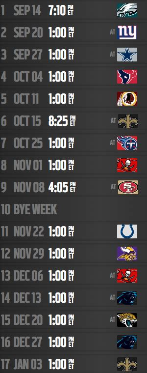 falcons  schedule nflcom