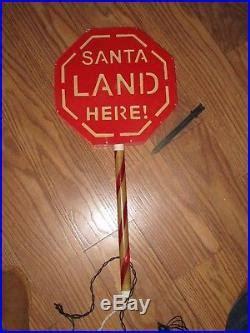 bright tidings santa landing zone christmas yard lights