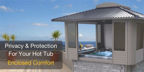25 best collection of spa enclosures gazebos tubs