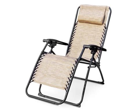 aldi us gardenline folding recliner chair