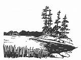Lake Clip Coloring Clear Stamps Scenery Rubber Stamp Drawings Burning Wood Clipart Line Scenes Patterns Digital Printable Sutter Houses Paint sketch template