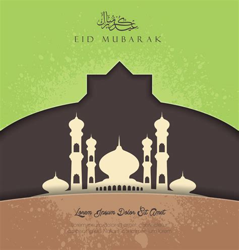 islamic greeting card background vector cdraicom