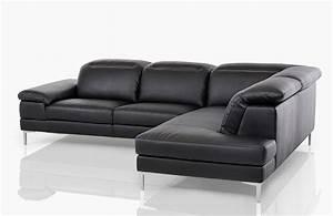 carnation modern black leather sectional sofa With modern leather sectional sofa 6103