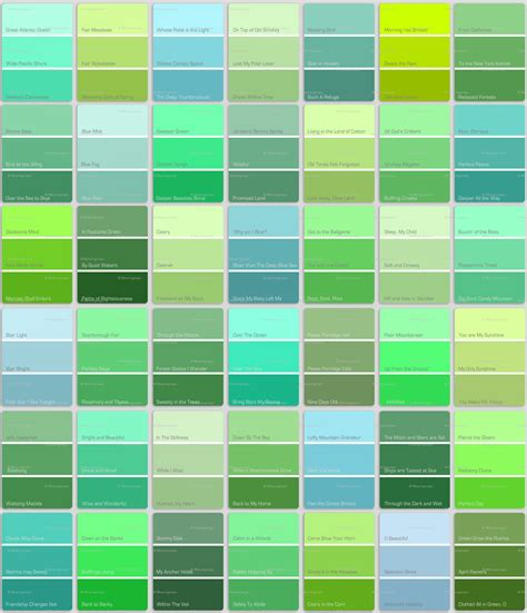 pics for gt teal green color chart