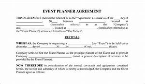 event contract template 16 free word excel pdf With wedding planner contract agreement