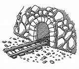 Tunnel Drawing Entrance Railway Vector Train Clip Illustrations Illustration Sketch Res Vectors Drawn sketch template