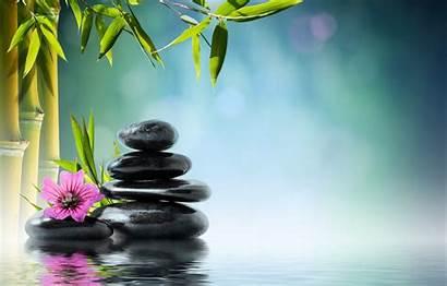 Zen Massage Bamboo Spa Stones Flower Orchid