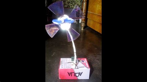 how to make working electric motor fan for school project step by step
