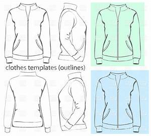 women39s sports jacket with zipper and pockets vector image With sports jacket template