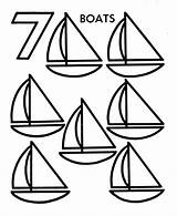 Coloring Pages Counting Objects Number Numbers Activity Worksheets Preschool Learning Sheet Count Clipart Sheets Printable Seven Worksheet Boats Teaching Preschoolers sketch template