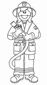 Firefighter Coloring Cartoon sketch template