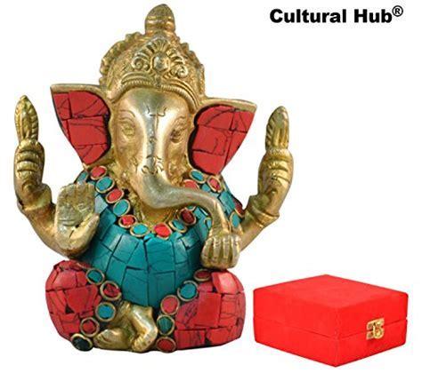 Cultural Hub® Ganesh Statue Hindu Religious Gifts Brass