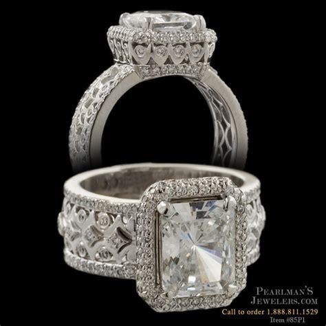Michael B Jewelry Quintessa Trois Diamond Engagement Ring