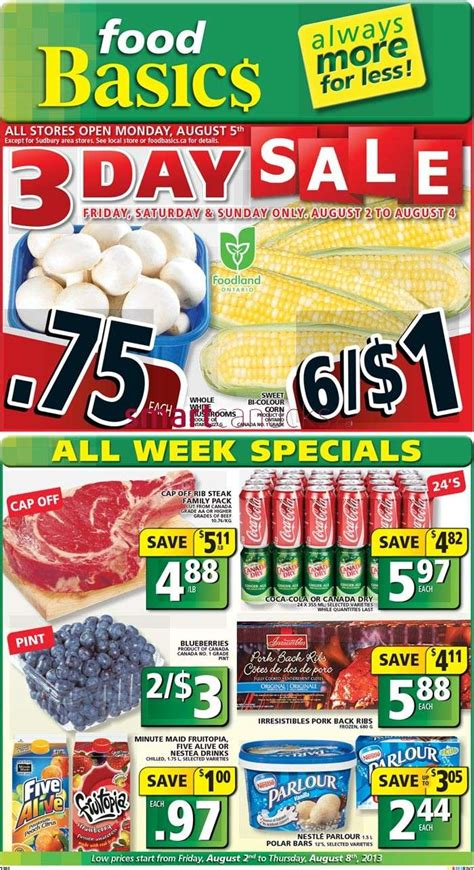 food basics flyer august