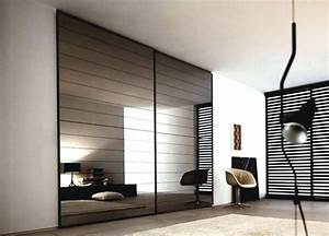 stunning porte de chambre coulissante pictures With film miroir pour porte de placard