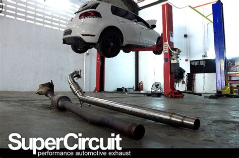 golf 6 gti downpipe supercircuit exhaust pro shop vw golf mk6 gti catless downpipe