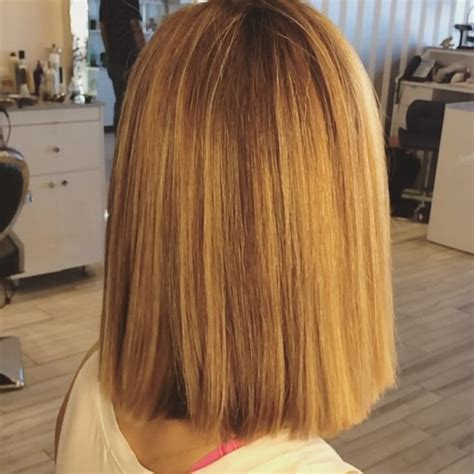 simple blunt bob hairstyles  medium hair daily