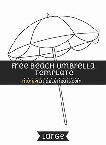 Free Beach Umbrella Template - Large | Shapes and ...