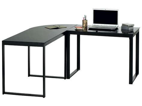 bureau angle verre bureau d 39 angle blacky coloris noir vente de bureau