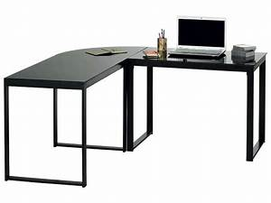 Petit Bureau Noir : bureau d 39 angle blacky coloris noir vente de bureau ~ Teatrodelosmanantiales.com Idées de Décoration
